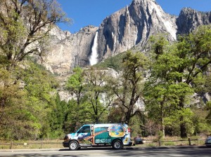 Tour bus at Yosemite